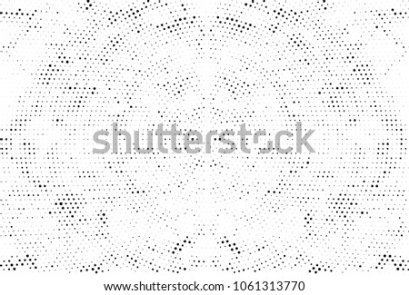 Abstract Monochrome Circles Background. Vector Grunge Black And White Modern Urban Pop Art Design. Halftone Texture For Banner, Poster, Cover, Label, Screen, Mockup, Sticker, Business Card #1061313770