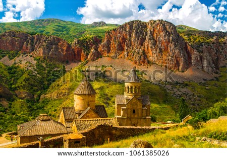 Mountain church in Armenia. Ancient monastery in Armenia #1061385026