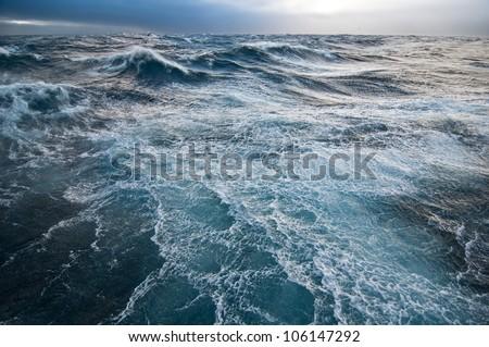 Stormy Sea Royalty-Free Stock Photo #106147292