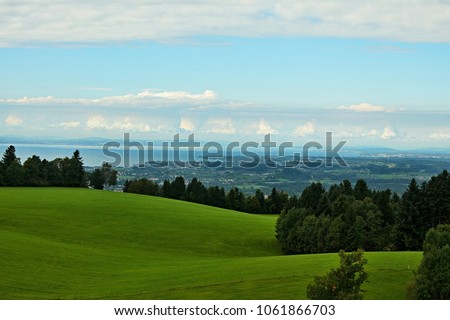 Austria-view of Lake Constance and town Lindau #1061866703