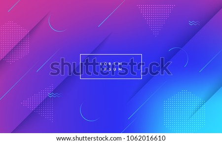 Minimal geometric background. Dynamic shapes composition. Eps10 vector. Royalty-Free Stock Photo #1062016610