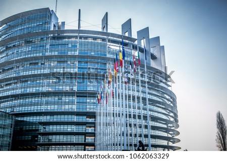 European Parliament in Strasbourg #1062063329