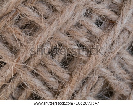 texture of close up  hemp rope for background #1062090347
