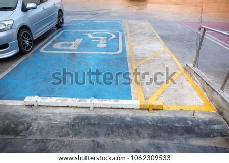 Handicapped parking lot