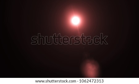 Colorful Light special lens flare effect. Sun flash with rays and spotlight. #1062472313