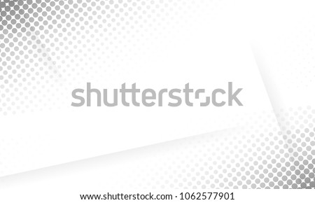 Grey Abstract geometric halftone background. #1062577901