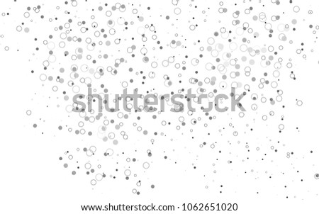 Light Silver, Gray vector  background with dots. Beautiful colored illustration with blurred circles in nature style. New design for ad, poster, banner of your website. #1062651020