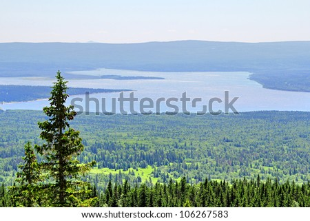 Mountainous lake Zyuratkul in Russia #106267583