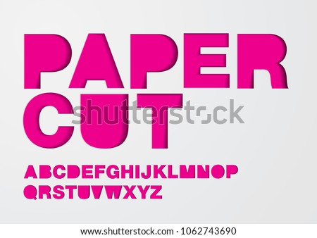 paper cut typography design vector/illustration