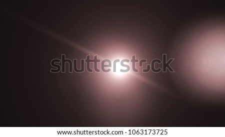 Colorful Light special lens flare effect. Sun flash with rays and spotlight. #1063173725