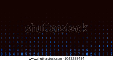 A modern design for digital wallpaper design. Concept business background. Abstract technical background of blue numbers on black. Illustration of the concept of a hacker. Computer code data. Vector.