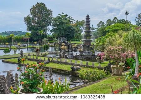 Tirta Gangga water palace on Bali island, Indonesia #1063325438