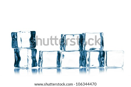 ice cubes isolated on a white backgtound #106344470