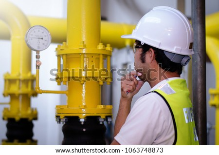 Asian Engineer checking list Cooling system,For the safety of the system #1063748873
