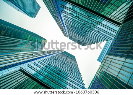 The architectural landscape of the commercial building in the ci #1063760306