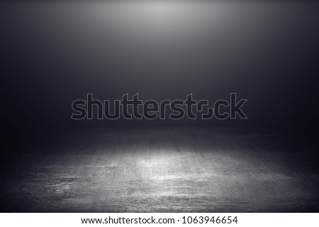 Dark room with light background. #1063946654