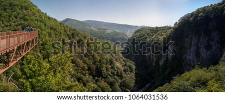 Okatse Canyon, hiking trail above the canyon, Georgia #1064031536