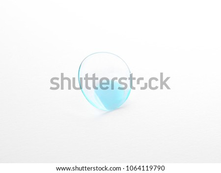 Contact lens on white background #1064119790