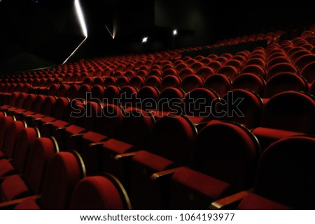 chairs on theater, cinema, close up #1064193977