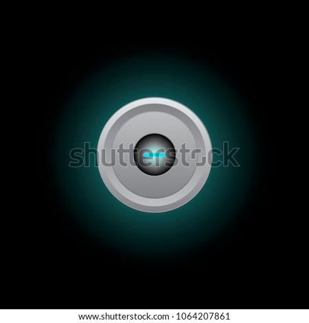 Blue light flash button #1064207861