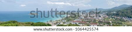 View photos Panorama Karon Beach and Karon Beach. phuket thailand #1064425574