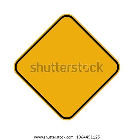 road sign give way #1064451125