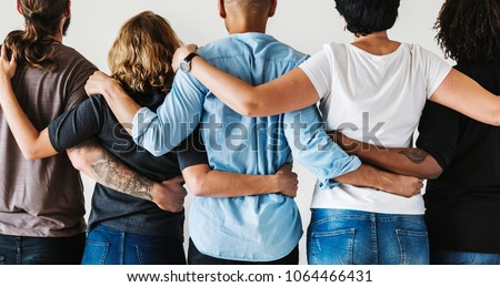 Diverse people with teamwork concept Royalty-Free Stock Photo #1064466431