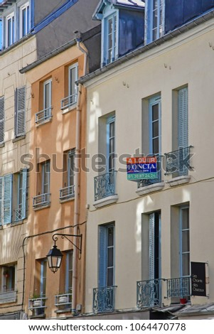 Saint Germain en Laye; France - august 7 2016 : the picturesque city in summer #1064470778