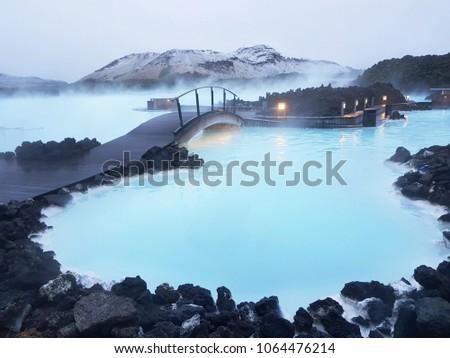 blue lagoon Iceland #1064476214