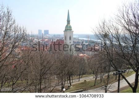 Skyline of Bratislava #1064708933