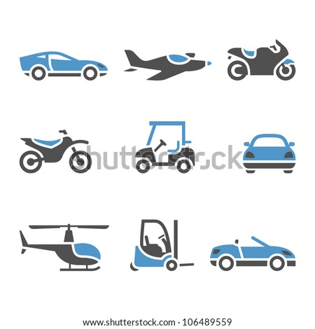 Transport Icons - A set of four. Eps version also available in my image gallery