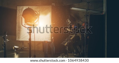 lighting equipment on the set close up #1064938430