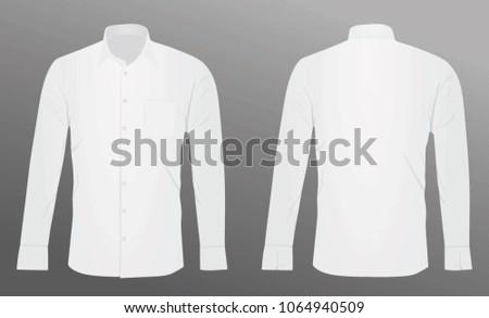 White man long sleeve shirt. vector illustration #1064940509