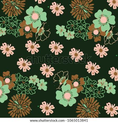 floral panttern in vector #1065013841