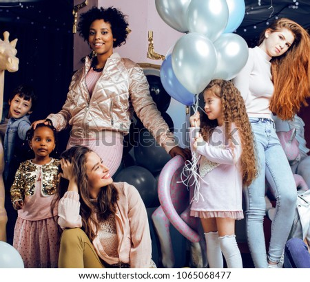 Lifestyle and people concept: young pretty diversity nations women #1065068477