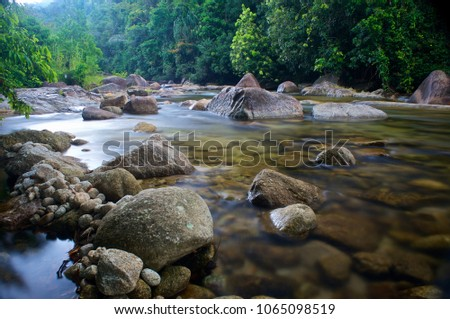 River in the Nakhon Si Thammarat Mountain chain, in Southern Thailand #1065098519