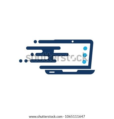 Laptop Speed Logo Icon Design