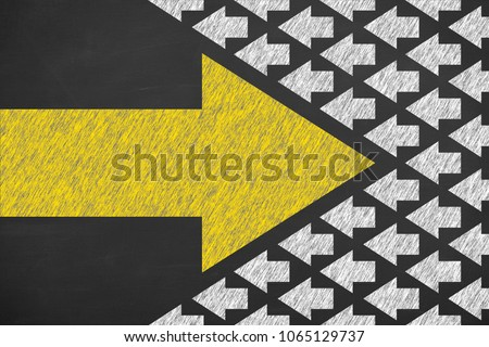 Drawing Change Concepts on Blackboard Background #1065129737