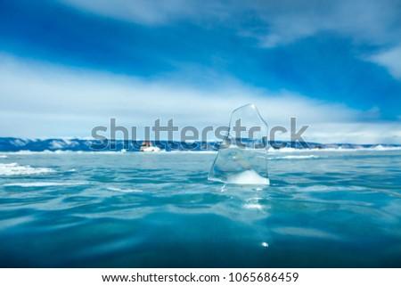 Ice crystal on Lake Baikal in winter #1065686459
