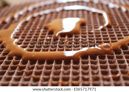 Wafers and condensed milk #1065717971