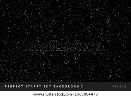 Perfect starry night sky background - vector stars space background