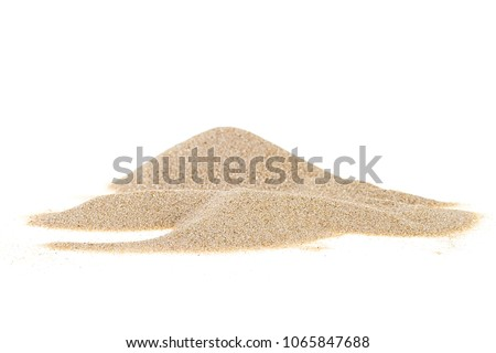 Pile desert sand isolated on white background Royalty-Free Stock Photo #1065847688