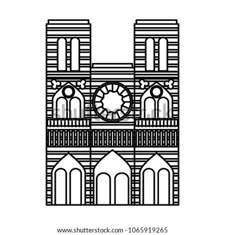 cathedral notre dame landmark architecture church in paris