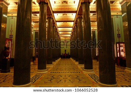 interior of the State Hermitage (Winter Palace) in St. Petersburg Russia #1066052528