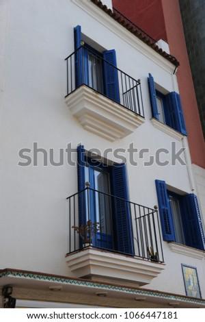 House facades, Lloret de Mar, Costa Brava, Spain #1066447181