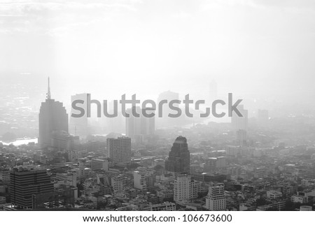 Building scape of bangkok city in Thailand #106673600