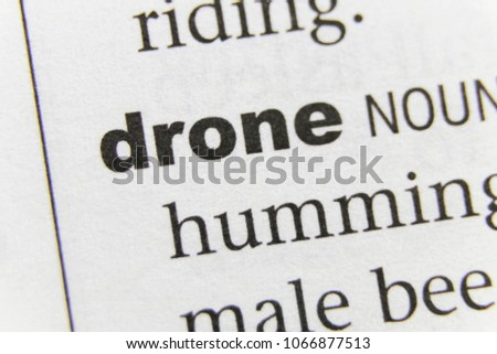 The Word Drone Close Up #1066877513