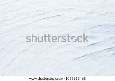 Fresh snow background texture. Winter background with snowflakes and snow mounds. #1066913468