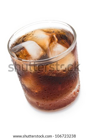 cup of iced cola with clipping path #106723238