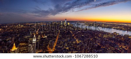 landscape of new york at night